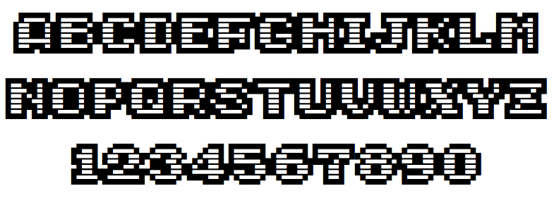 GameOver - an OpenType and TrueType typeface inspired by 80s